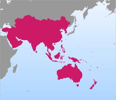 Edition CRCSI - East asia oceania map
